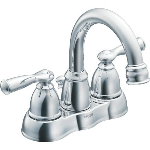 Moen Inc Moen Banbury 2-Handle Hi-Arc Bathroom Faucet With Pop-Up