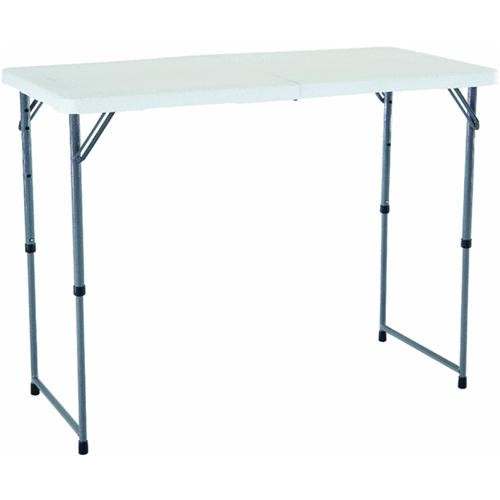 Lifetime/Xiamen 4' Fold-in-Half Adjustable Height Folding Table