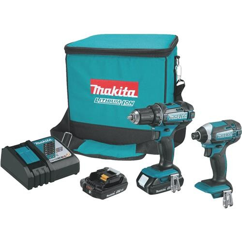 Makita Makita 18V Lithium-Ion Drill and Impact Cordless Tool Combo Kit