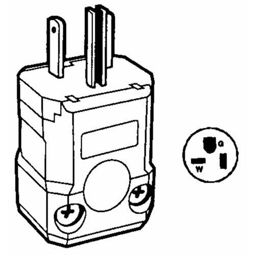 Leviton Leviton Commercial Spec Grade Grounding Cord Plug