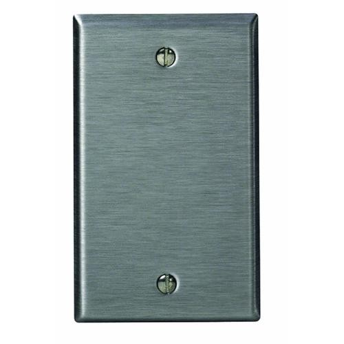 Leviton Stainless Steel Blank Wall Plate