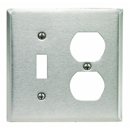 Leviton Stainless Steel Combination Wall Plate