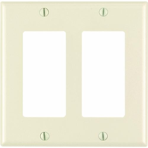 Leviton Leviton DECORA Double Rocker Decorator Wall Plate