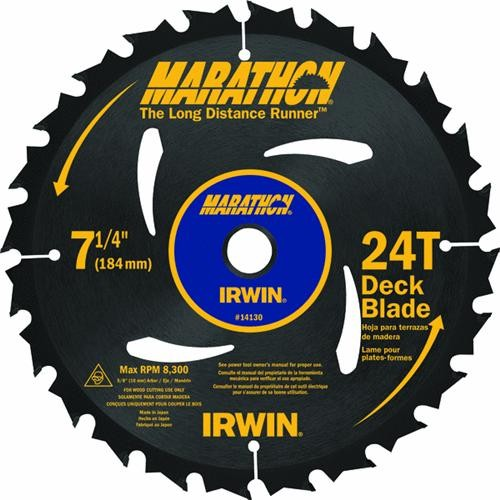 Irwin Irwin Marathon Carbide Tipped Deck Circular Saw Blade