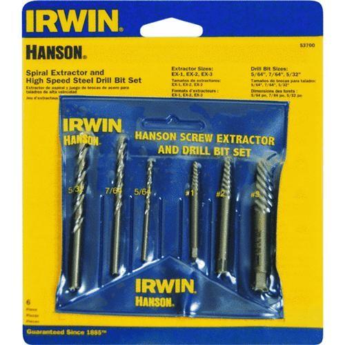 Irwin Irwin 6-Piece Drill Bit and Screw Extractor Set