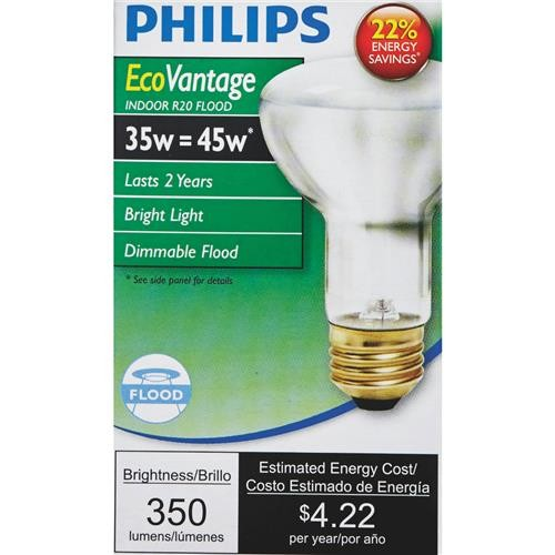 Philips Lighting Co Philips EcoVantage R20 Halogen Floodlight Light Bulb