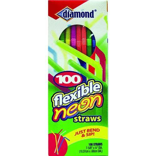 Jarden Home Brands Neon Flex Neck Straw