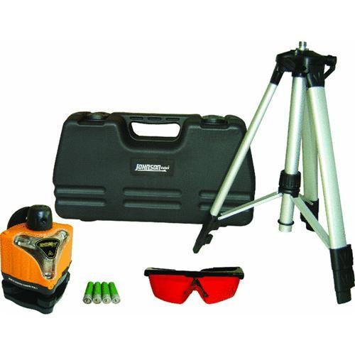 Johnson Level Manual-Leveling Rotary Laser Level Kit