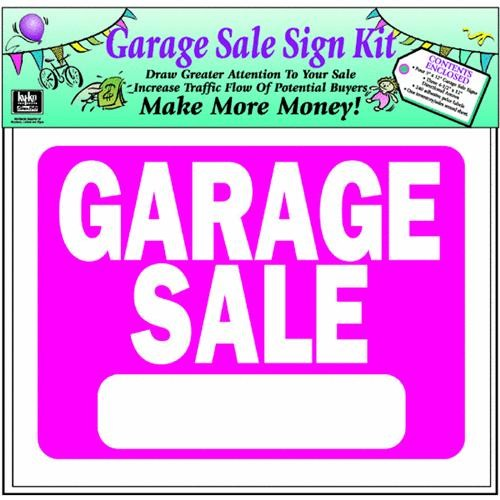 Hyko Prod. Garage Sale Sign Kit