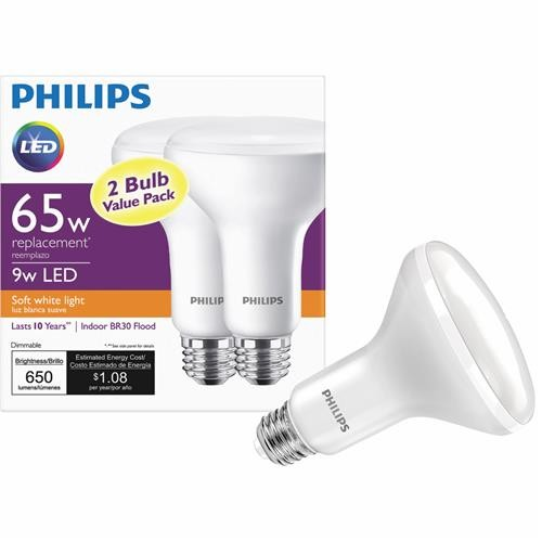 Philips Lighting Co Philips BR30 Medium Dimmable LED Floodlight Light Bulb