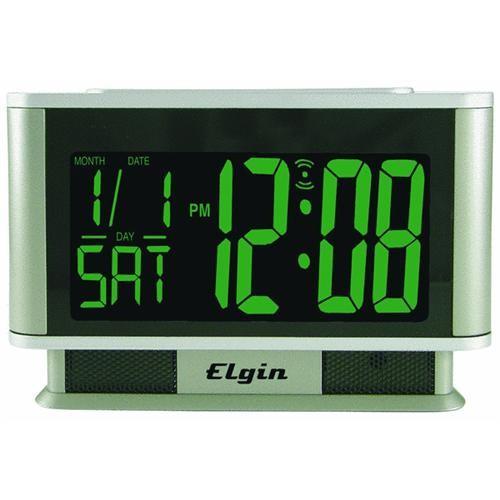 Geneva Clock Company Elgin LCD Battery Operated Alarm Clock