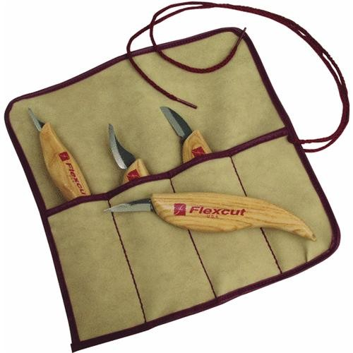 Flexcut Tool Co. 4-Piece Wood Carving Knife Set