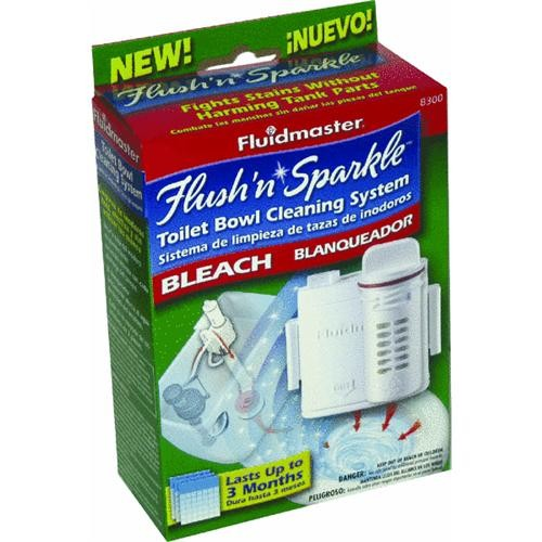 Fluidmaster Flush 'N Sparkle Automatic Toilet Bowl Cleaner With Bleach