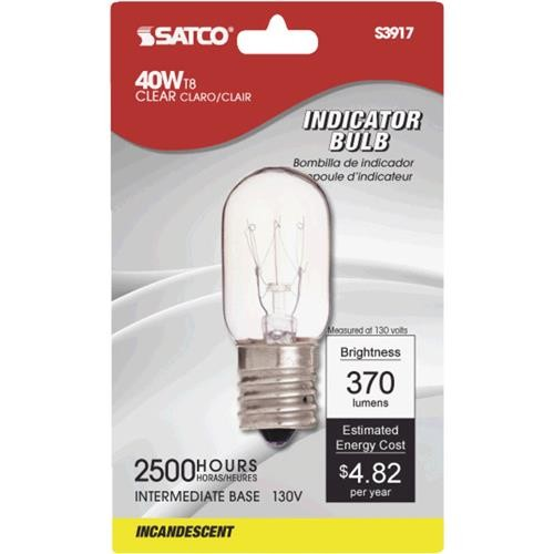 SATCO PRODUCTS, INC. Satco T8 Incandescent Microwave Oven Light Bulb