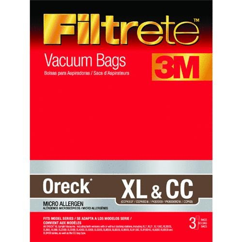 Electrolux Home Care Filtrete Oreck XL & CC Vacuum Bag