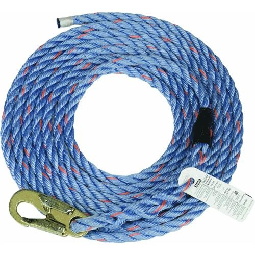Fall Tech 50' Polysteel Rope with Snap-Hook