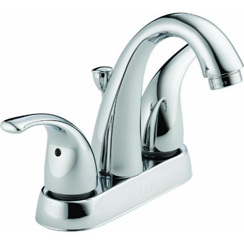 Delta Faucet Peerless 2 Lever handles Chrome Lavatory Faucet With Pop-up