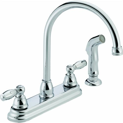 Delta Faucet Peerless 2-Handle Designer Kitchen Faucet With Spray
