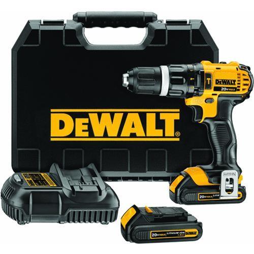 Dewalt DeWalt 20V MAX Lithium-Ion Compact Cordless Hammer Drill Kit