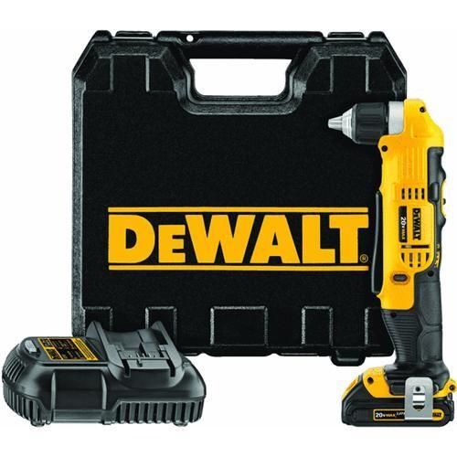 Dewalt DeWalt 20V MAX Lithium-Ion Cordless Angle Drill Kit