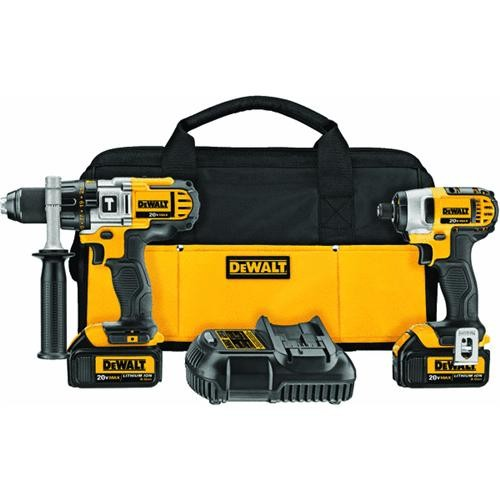 Dewalt DeWalt 20V MAX Lithium-Ion Hammer Drill And Impact Driver Cordless Tool Combo Kit
