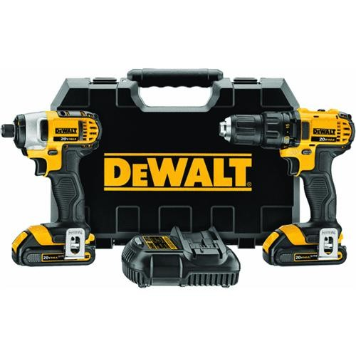 Dewalt DeWalt 20V MAX Lithium-Ion Drill/Driver and Impact Driver Cordless Tool Combo Kit