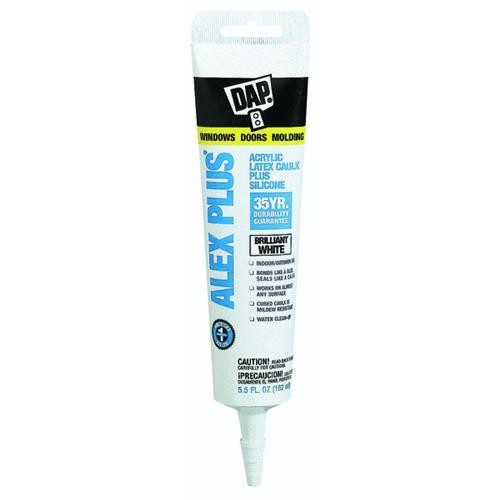Dap DAP ALEX PLUS Acrylic Siliconized Latex Caulk