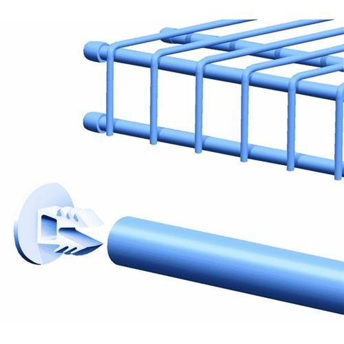 ClosetMaid SuperSlide Wire White Shelf End Cap