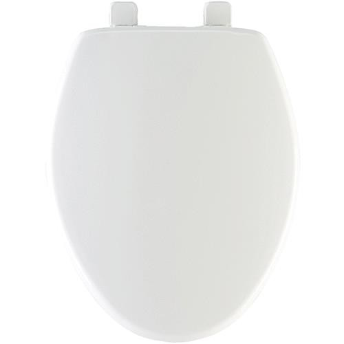 Bemis/Mayfair White Elongated Plastic Slow Close Toilet Seat