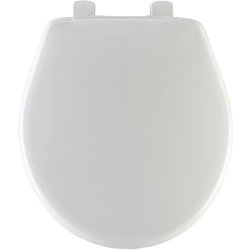 Bemis/Mayfair White Round Plastic Slow Close Toilet Seat