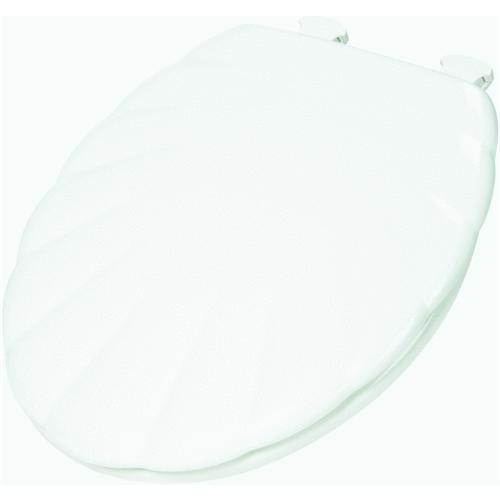 Bemis/Mayfair Designer Sculptured Round Shell Wood Toilet Seat