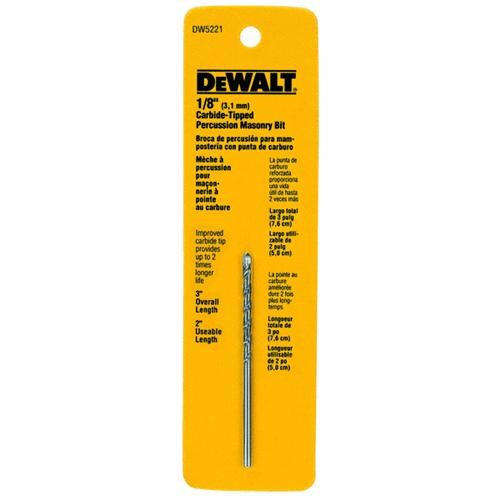 Black & Decker/DWLT DeWalt Percussion Masonry Drill Bit