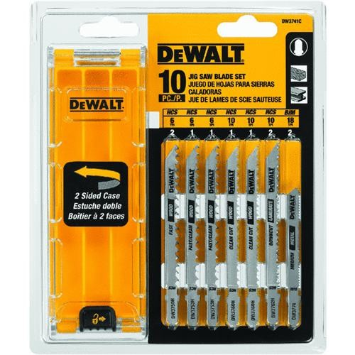 Black & Decker/DWLT 10-Piece T-Shank Jigsaw Blade Set