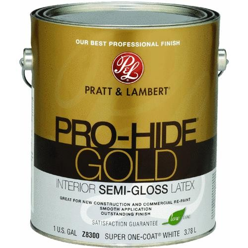 - Pratt & Lambert Pro-Hide Gold Semi-Gloss Latex Interior Wall Paint