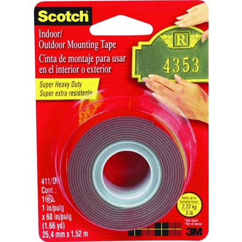3M Scotch Heavy-Duty Interior Exterior Mounting Tape