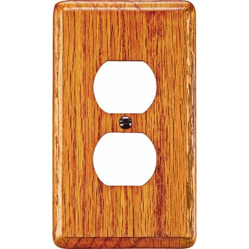 AmerTac Westek Amerelle Wood Outlet Wall Plate