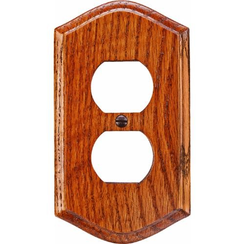 AmerTac Westek Amerelle Country Medium Oak Outlet Wall Plate