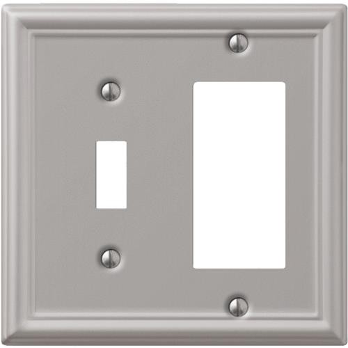 AmerTac Westek Amerelle Chelsea Stamped Steel Toggle/Rocker Combination Wall Plate