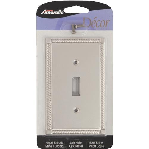AmerTac Westek Amerelle Georgian Cast Metal Switch Wall Plate