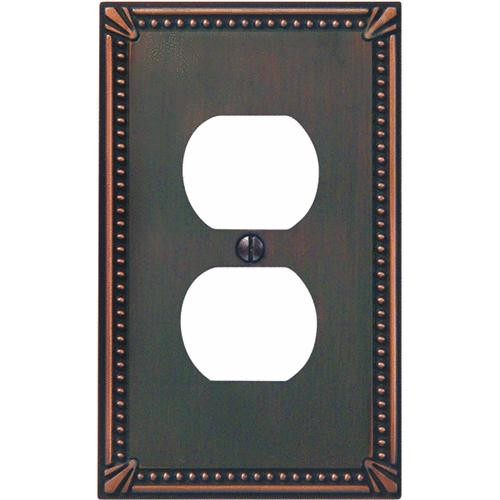 AmerTac Westek Amerelle Imperial Bead Cast Metal Outlet Wall Plate