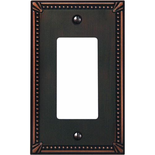 AmerTac Westek Amerelle Imperial Bead Cast Metal Rocker Decorator Wall Plate