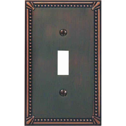 AmerTac Westek Amerelle Imperial Bead Cast Metal Switch Wall Plate
