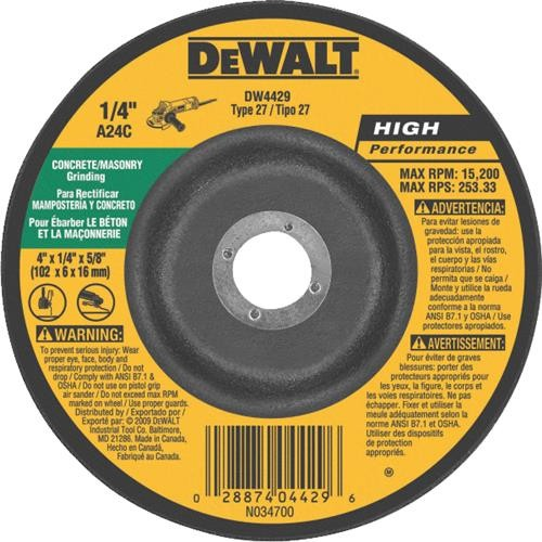 Black & Decker/DWLT DeWalt HP Type 27 Cut-Off Wheel