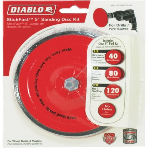 Freud Inc Diablo StickFast Sanding Disc Kit