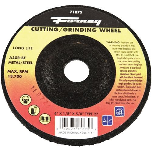 Forney Industries Forney Type 27 Cut-Off Wheel