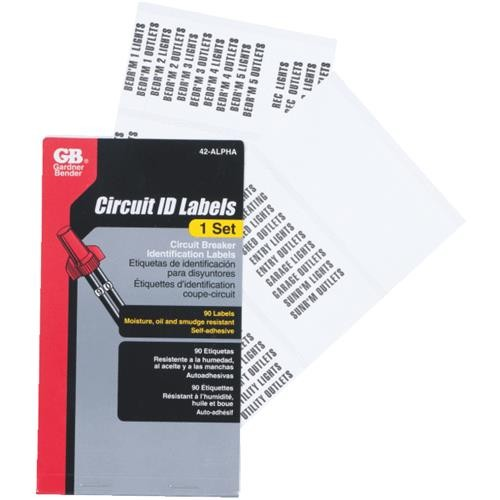 GB Electrical Gardner Bender Pocket Pack Wire Labels