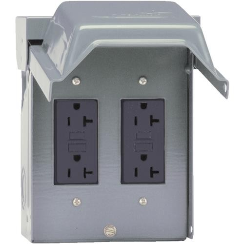 GE Industrial Dept. GE Backyard GFCI Outlet With 2 Receptacles