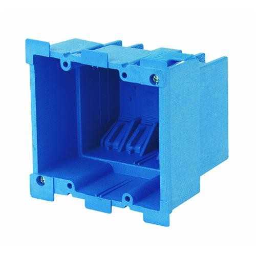 Thomas & Betts Two Gang Super Blue Old Work Box