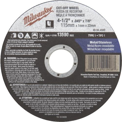 Milwaukee Accessory Milwaukee Cut-Off Wheel