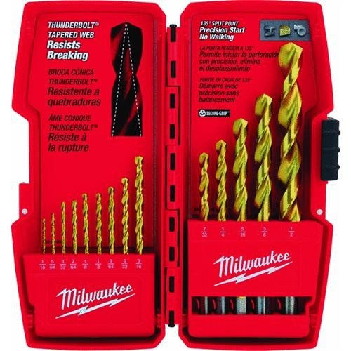 Milwaukee Accessory Milwaukee Thunderbolt 14-Piece Titanium Drill Bit Set
